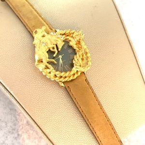 Vintage Marie Lourdes Gold Color Cowboy watch